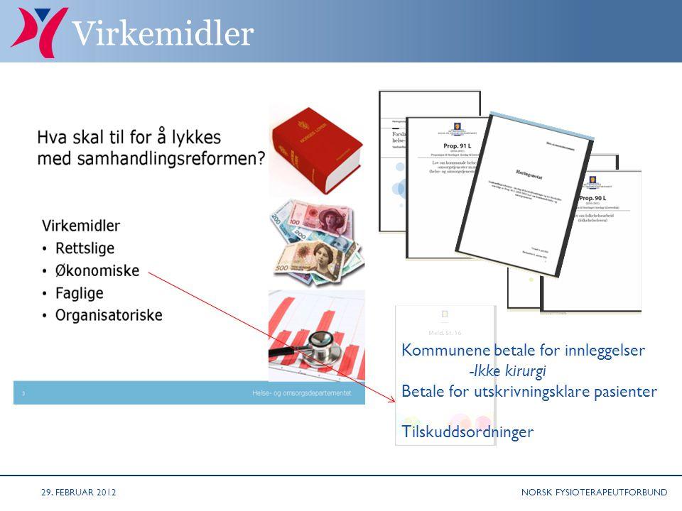 NORSK FYSIOTERAPEUTFORBUND Årsverk skolehelsetjenesten 29. FEBRUAR 2012