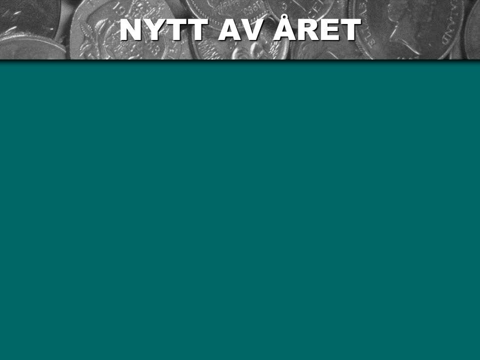 NYTT AV ÅRET