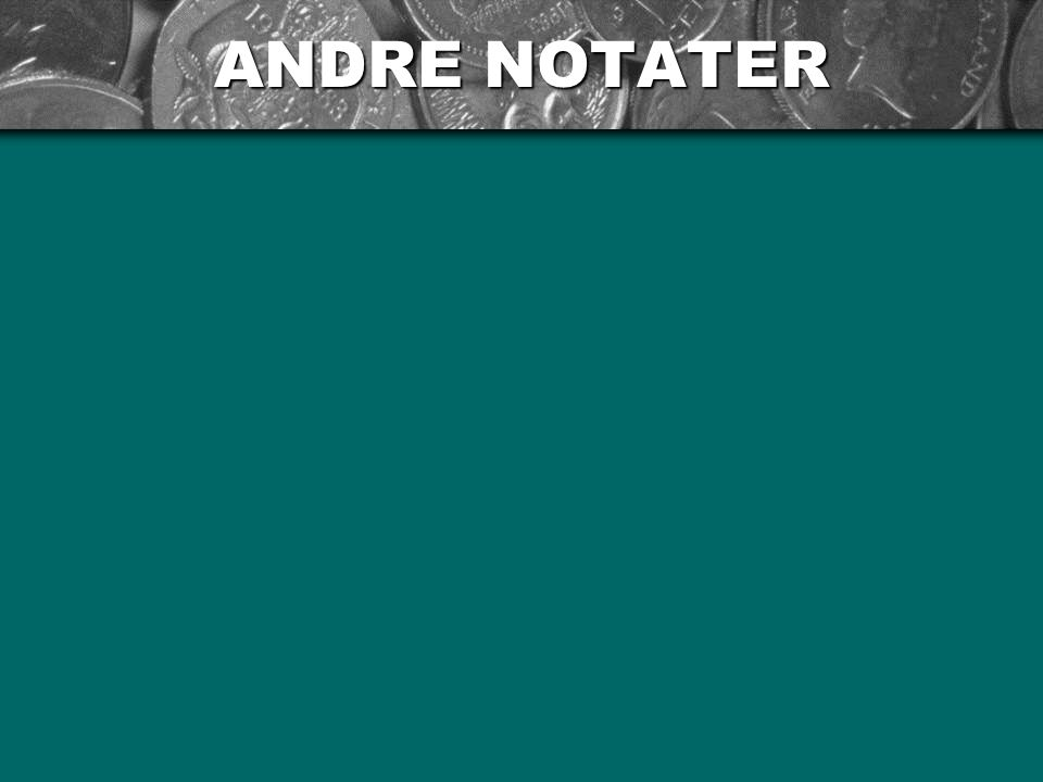 ANDRE NOTATER