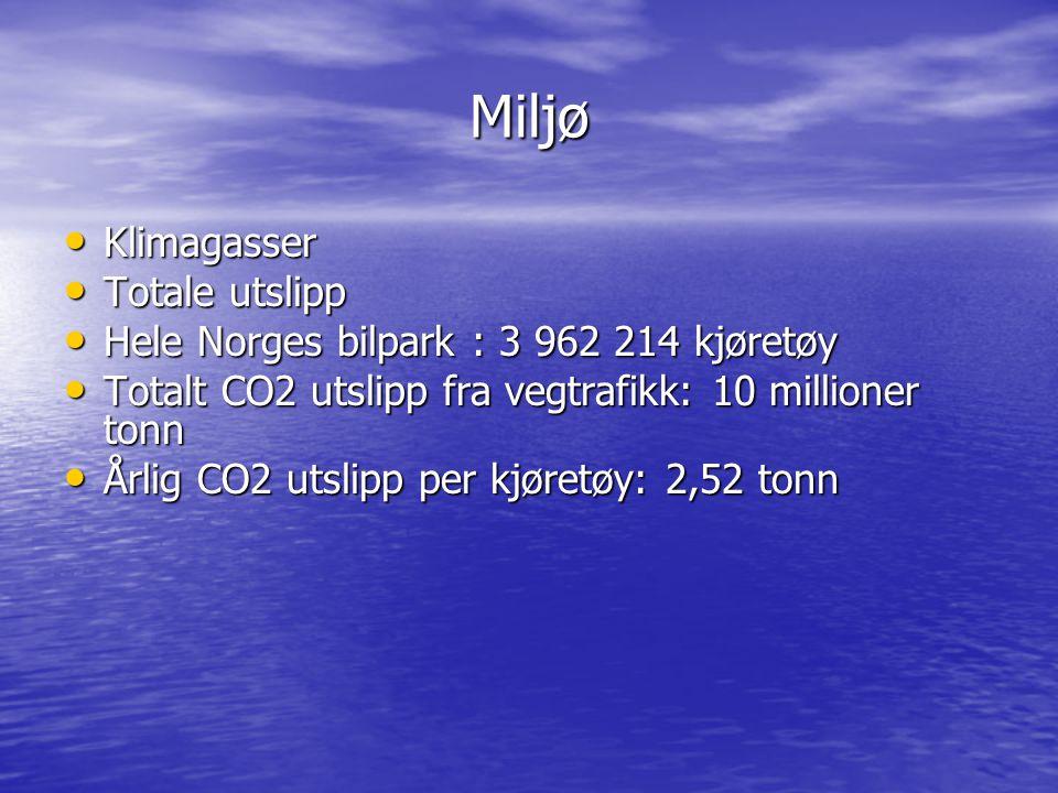 Oversikt over utslippskilder Kilder:Ant.kjøretøyKjørelengdeBesparelse Statlige etater 80482 16000 km 203123,8 tonn Forsvaret1490 23500 km 5511,4 tonn Politiet(Oslo,Tr.heim, Bergen) 516 24000 km 1949,2 tonn Kommunale etater i Telemark 240 20000 km 755,2 tonn Porsgrunn Kommune 137 20000 km 431,3 tonn HiT(estimert)1 16000 km 2,5 tonn
