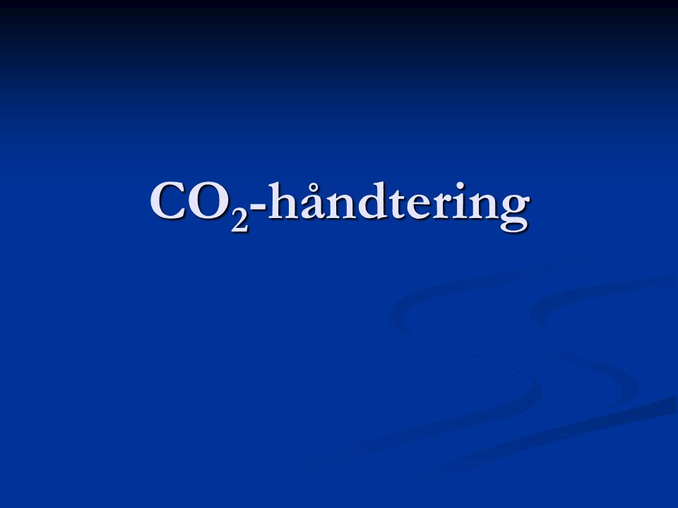 CO 2 -håndtering