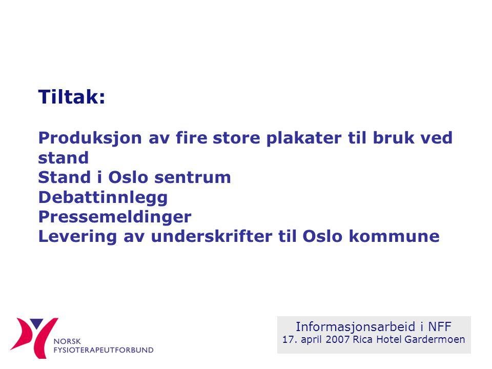Informasjonsarbeid i NFF 17.