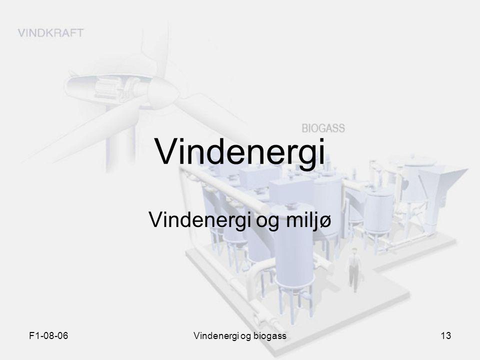 F1-08-06Vindenergi og biogass13 Vindenergi Vindenergi og miljø