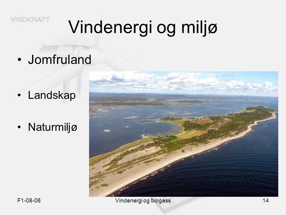 F1-08-06Vindenergi og biogass14 Vindenergi og miljø Jomfruland Landskap Naturmiljø