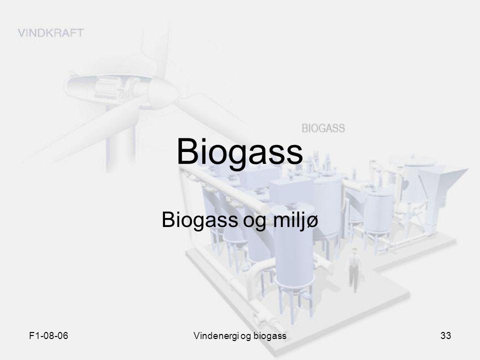 F1-08-06Vindenergi og biogass33 Biogass Biogass og miljø