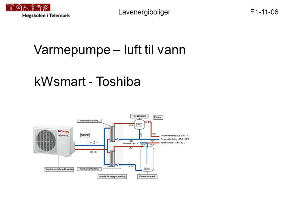 F1-11-06Lavenergiboliger Varmepumpe – luft til vann kWsmart - Toshiba