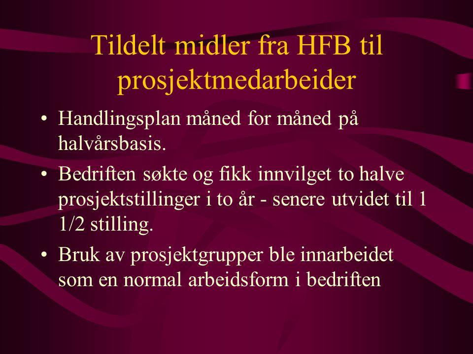 Tildelt midler fra HFB til prosjektmedarbeider Handlingsplan måned for måned på halvårsbasis.