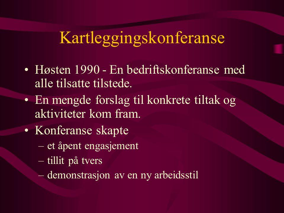 Kartleggingskonferanse Høsten 1990 - En bedriftskonferanse med alle tilsatte tilstede.