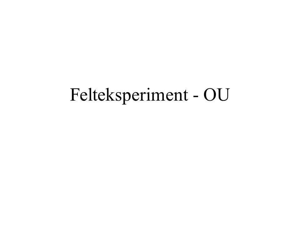 Eksperiment Test av en teori, dvs.test av noe som foreligger forut for eksperimentet.