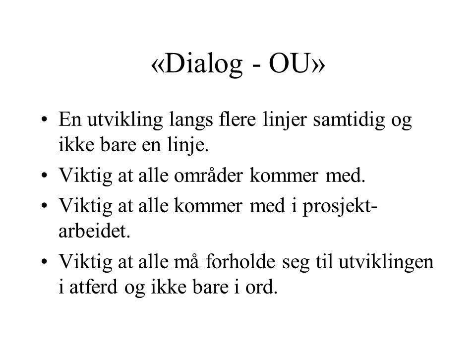 «Dialog - OU» En utvikling langs flere linjer samtidig og ikke bare en linje.