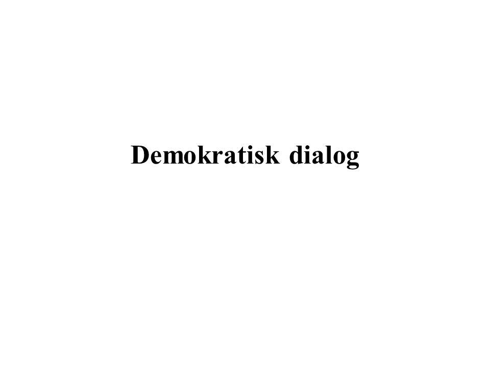 Demokratisk dialog