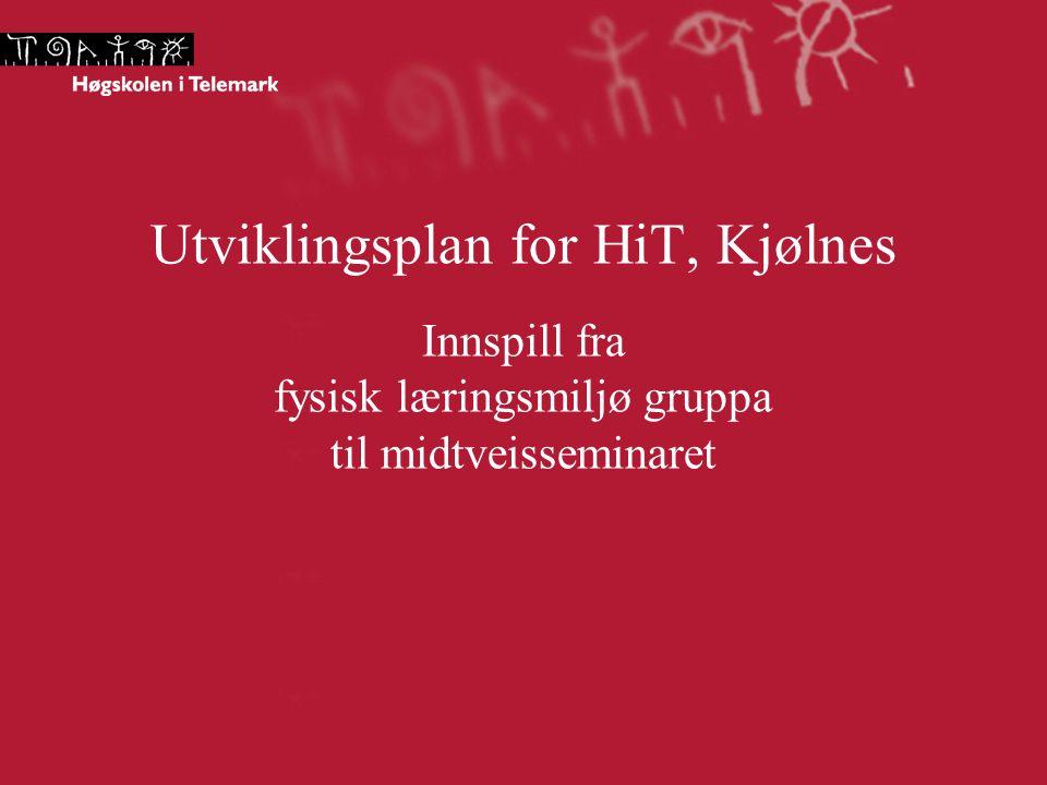 Utviklingsplan for HiT, Kjølnes Innspill fra fysisk læringsmiljø gruppa til midtveisseminaret