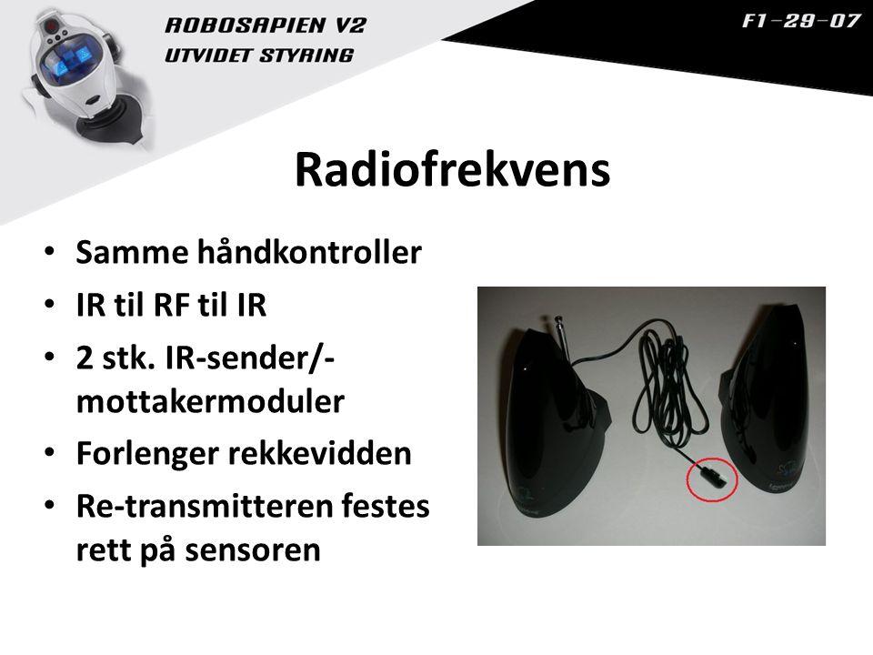 Radiofrekvens Samme håndkontroller IR til RF til IR 2 stk.