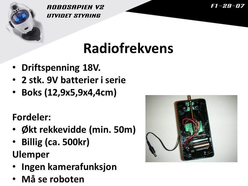 Radiofrekvens Driftspenning 18V.2 stk.