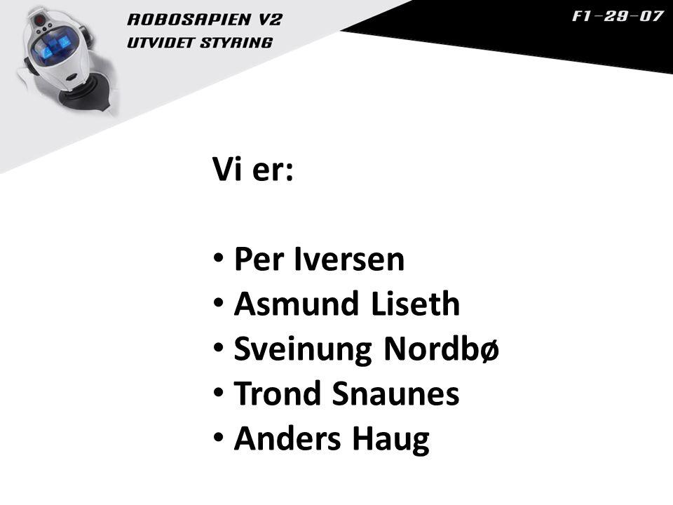 Vi er: Per Iversen Asmund Liseth Sveinung Nordbø Trond Snaunes Anders Haug