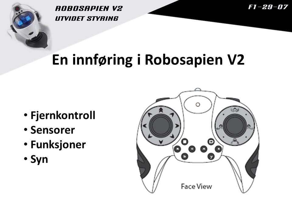 En innføring i Robosapien V2 Fjernkontroll Sensorer Funksjoner Syn