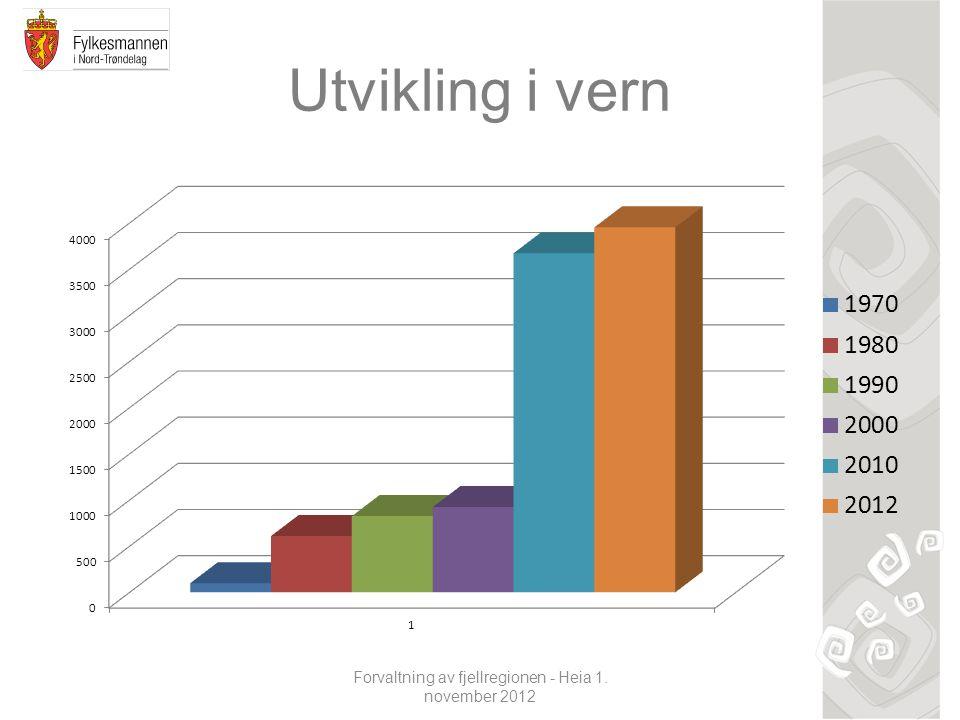 Utvikling i vern Forvaltning av fjellregionen - Heia 1. november 2012