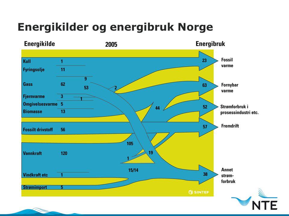 Energikilder og energibruk Norge