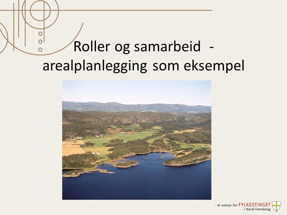 Roller og samarbeid - arealplanlegging som eksempel
