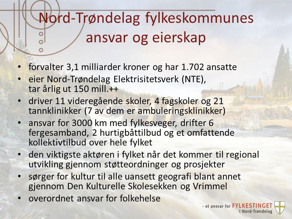Investeringer veg Bruer (21,4 millioner kroner) Arnøybrua, Nærøy Bognbrua, Namsos Midjobrua, Steinkjer Myrbrua, Stjørdal Røyrvikelvbru, Røyrvik Byafossdammen bru, Steinkjer Gang- og sykkelveger (73,8 millioner kroner) Holte-Minsås-Lein, Verdal (15,7 mill) Høknes – Ura, Namsos (14 mill) + åtte andre prosjekt