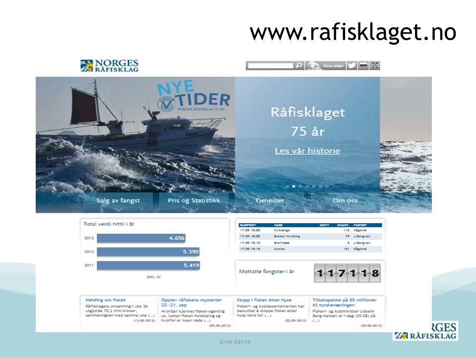 www.rafisklaget.no Einar Sande