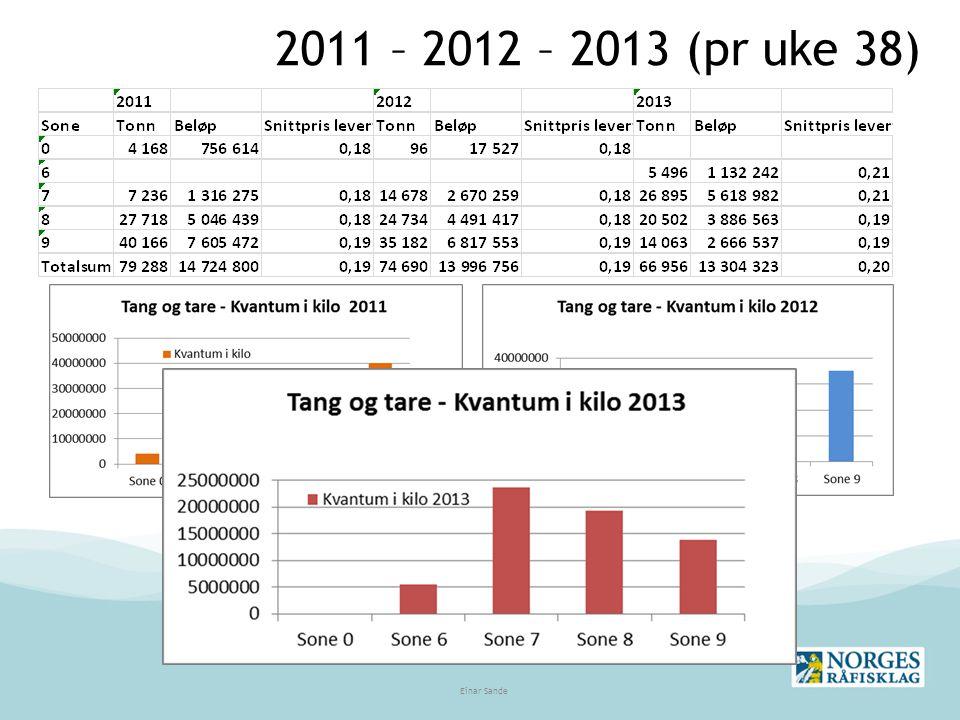 2011 – 2012 – 2013 (pr uke 38) Einar Sande