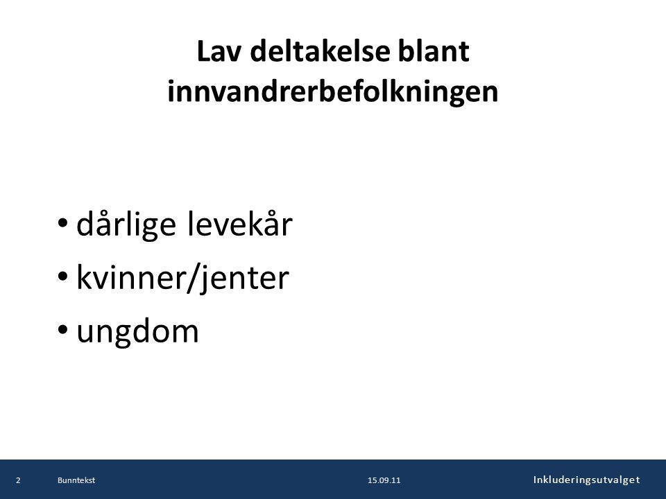 Inkluderingsutvalget Dere er Lysbakkens forlengede arm og viktige aktører i integreringsarbeidet i framtidas Norge.