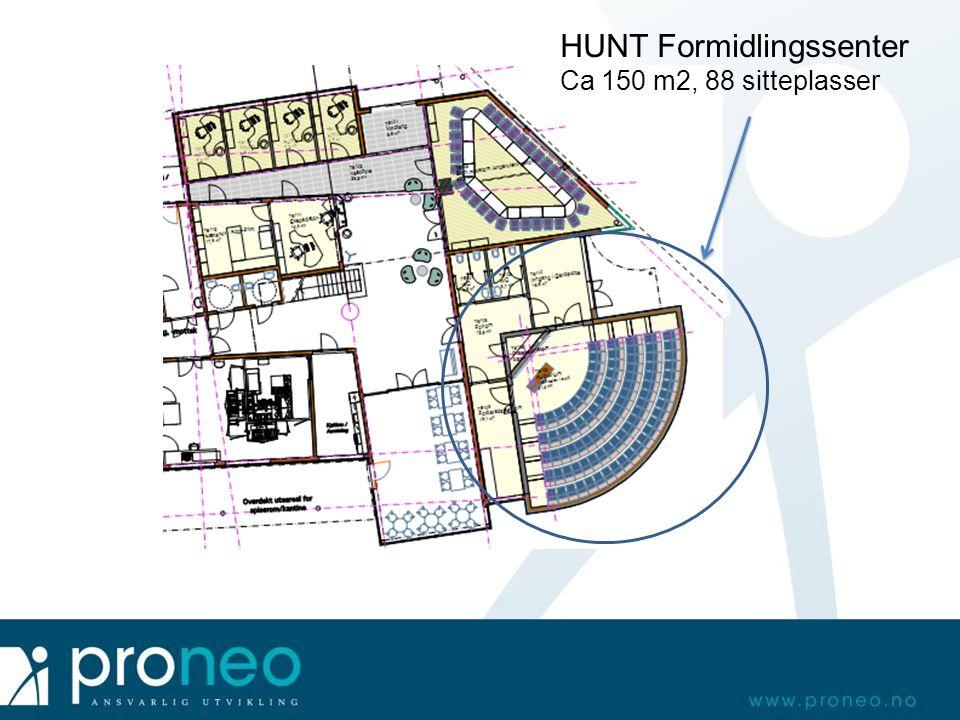 HUNT Formidlingssenter Ca 150 m2, 88 sitteplasser