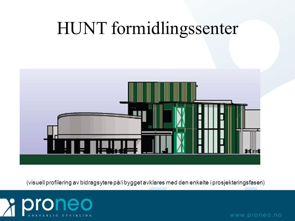 HUNT formidlingssenter (visuell profilering av bidragsytere på/i bygget avklares med den enkelte i prosjekteringsfasen)