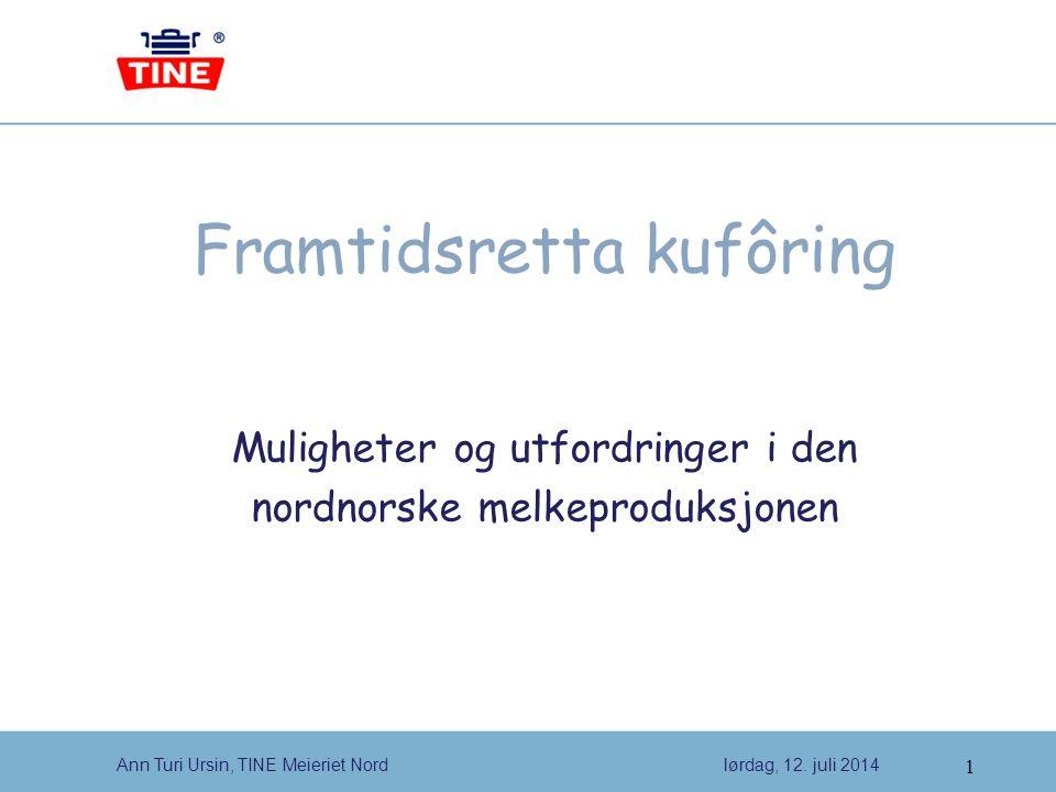 1 Ann Turi Ursin, TINE Meieriet Nordlørdag, 12.