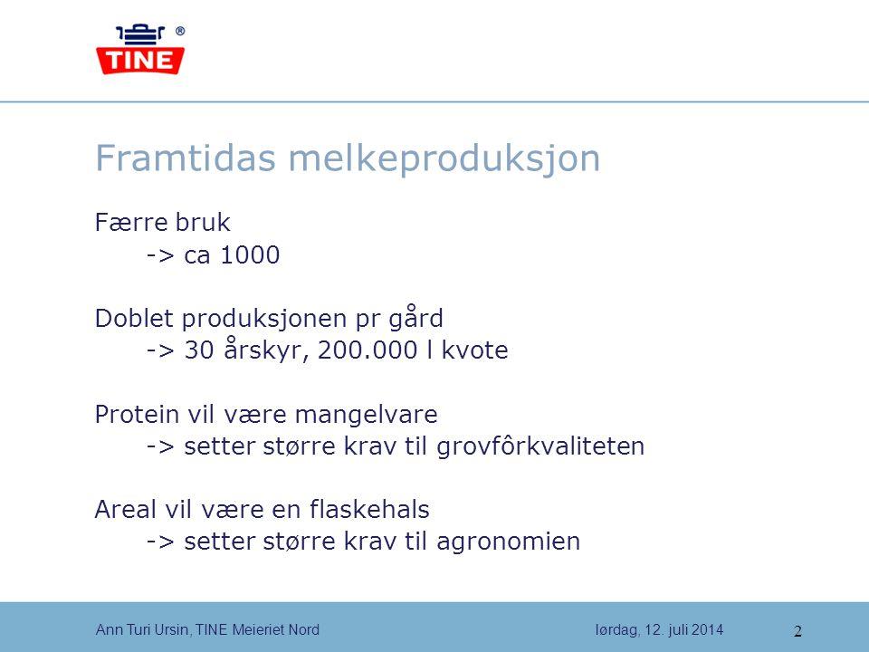 2 Ann Turi Ursin, TINE Meieriet Nordlørdag, 12.