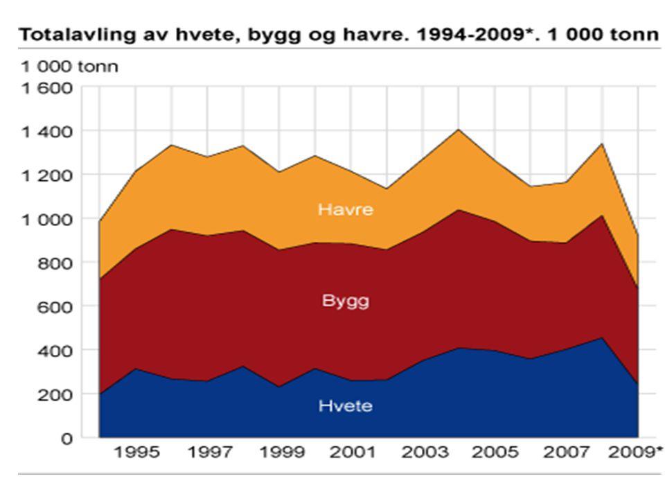 Kornproduksjon 1994-2009