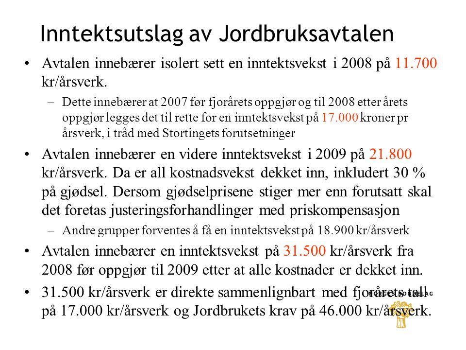 GEIT + 17 øre/liter i målpris fra 01.07.08 og + 20 øre/liter fra 01.01.09 + 14 øre/liter i grunntilskudd for geitemelk + 2 øre/l i distriktstilskudd sone B-J + 6.000 kr i driftstilskudd for enkeltbruk og samdrifter etablert etter 01.07.04 –- 10.000 kr for samdrift med 2 medl.