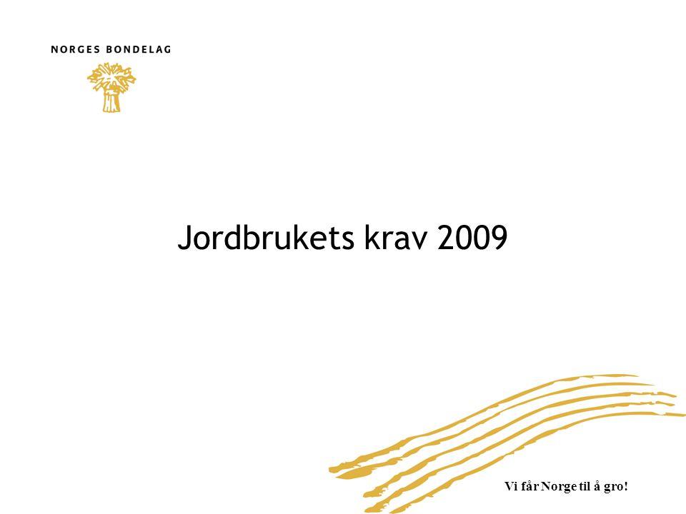 Vi får Norge til å gro! Jordbrukets krav 2009