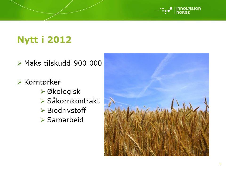 10  Husdyrproduksjoner - endring lovverk/forskrifter  Grønnsaksproduksjon friland, frukt bær og veksthus  Gjødsellager og høytørke «Prioriterte tiltak» tradisjonelt jord- og hagebruk