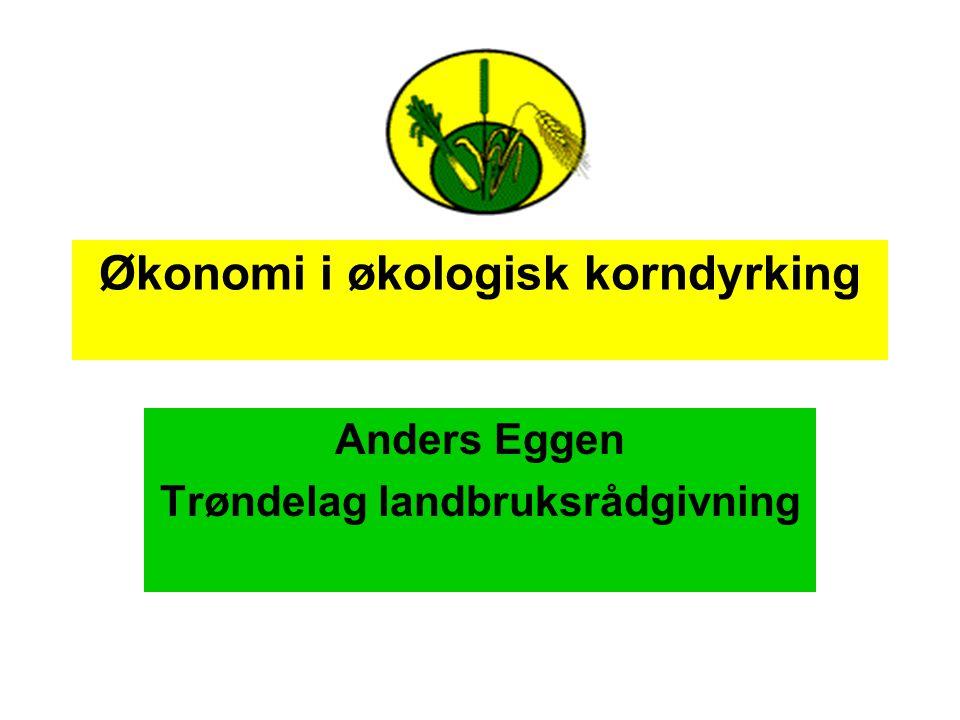 Økonomi i økologisk korndyrking Anders Eggen Trøndelag landbruksrådgivning