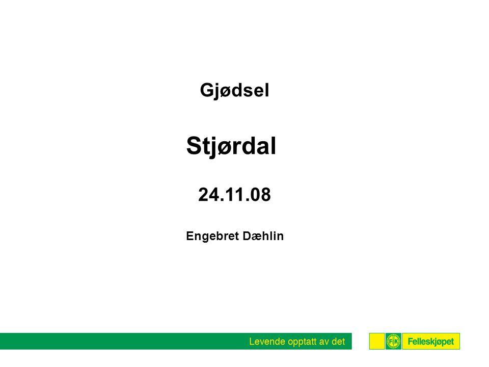 Gjødsel Stjørdal 24.11.08 Engebret Dæhlin