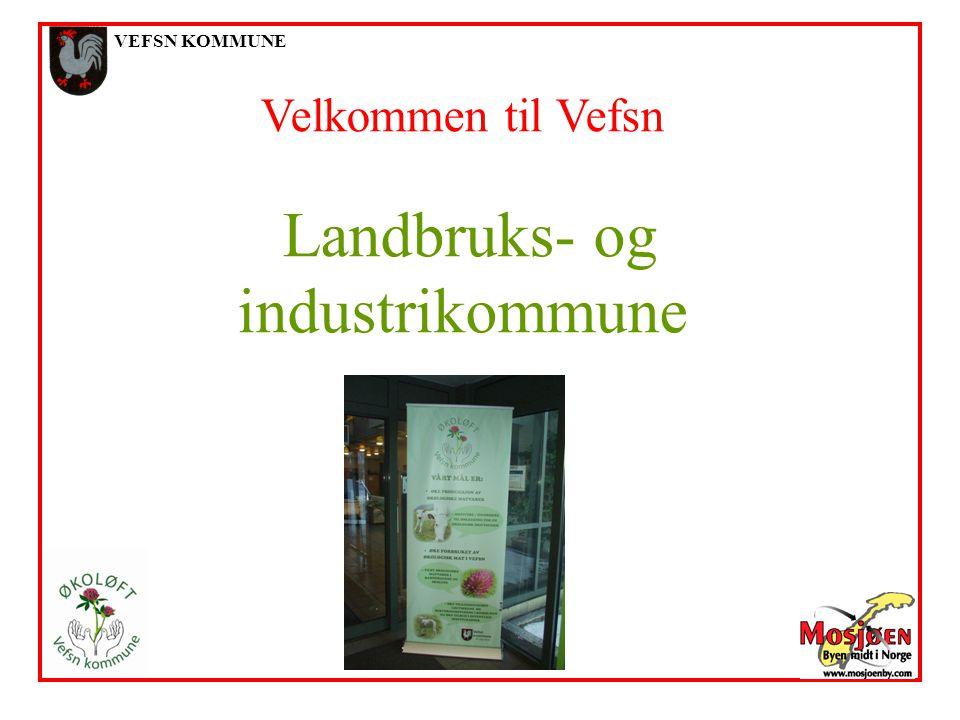 VEFSN KOMMUNE Velkommen til Vefsn Landbruks- og industrikommune