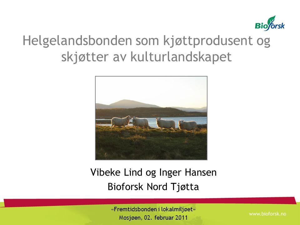 Hva kan Helgelandsbonden gjøre Helgeland har naturgitte fordeler for produksjon av storfe-, lamme- og sauekjøtt Øke antall beitedyr – for eksempel ved ny driftsform Bevisst på bruk av beitedyr i «viktige» kulturlandskap
