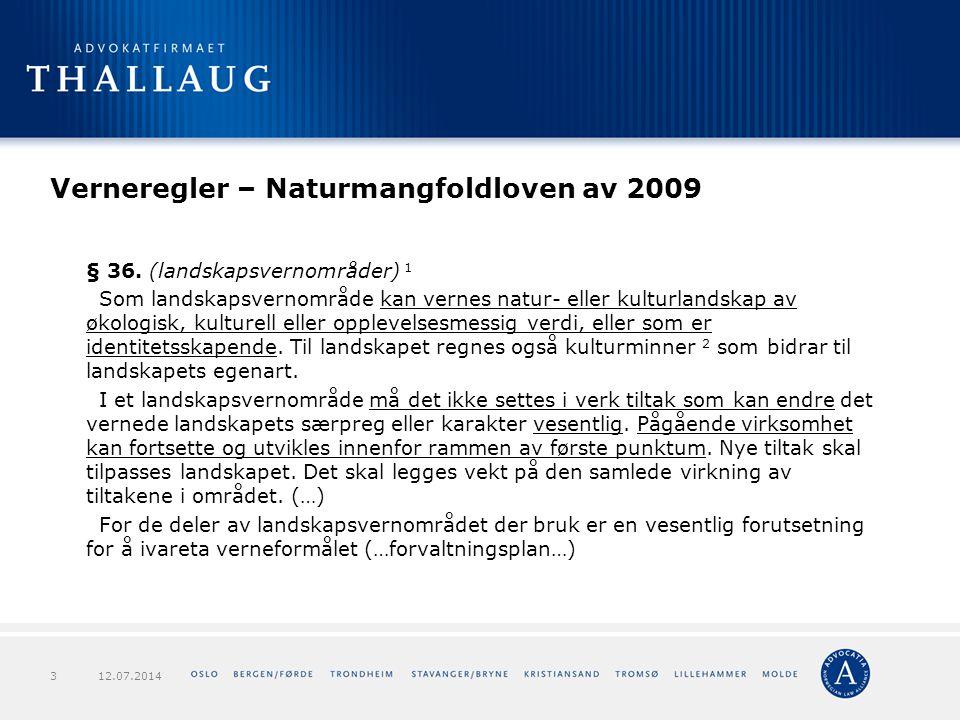 Forts.verneforskriften – Langsua NP 1.