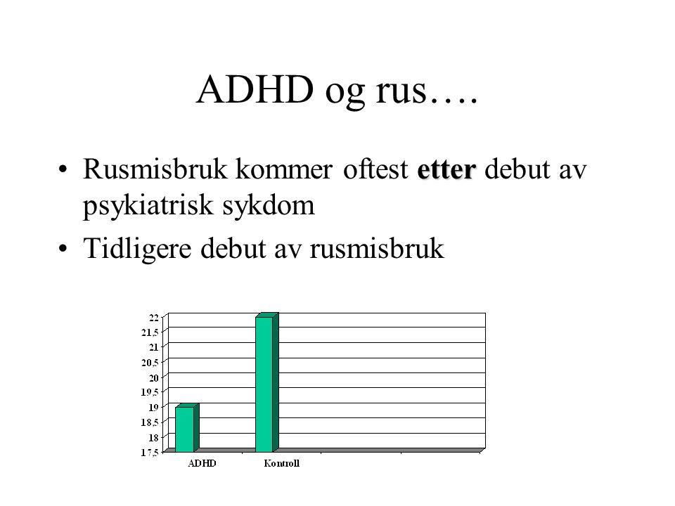 ADHD og rus….