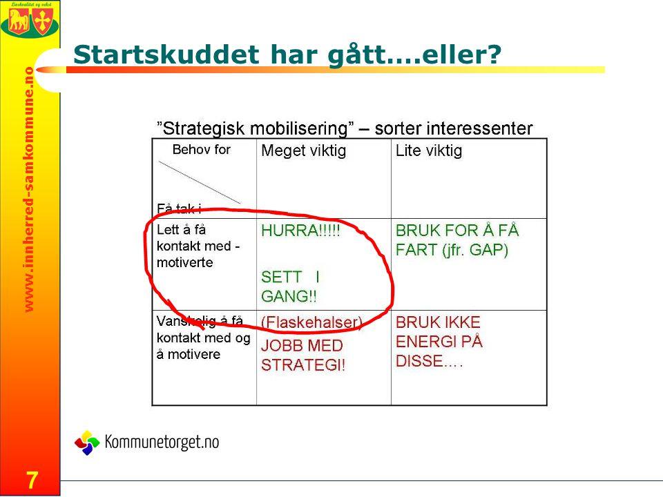 www.innherred-samkommune.no Startskuddet har gått….eller? 7
