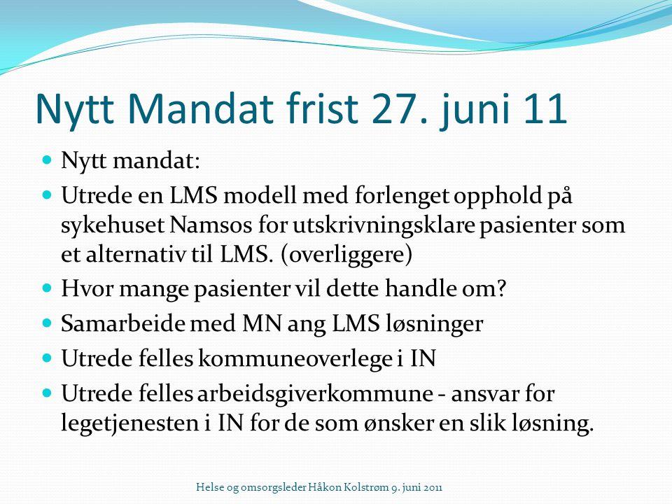 Nytt Mandat – frist 27.juni 11.