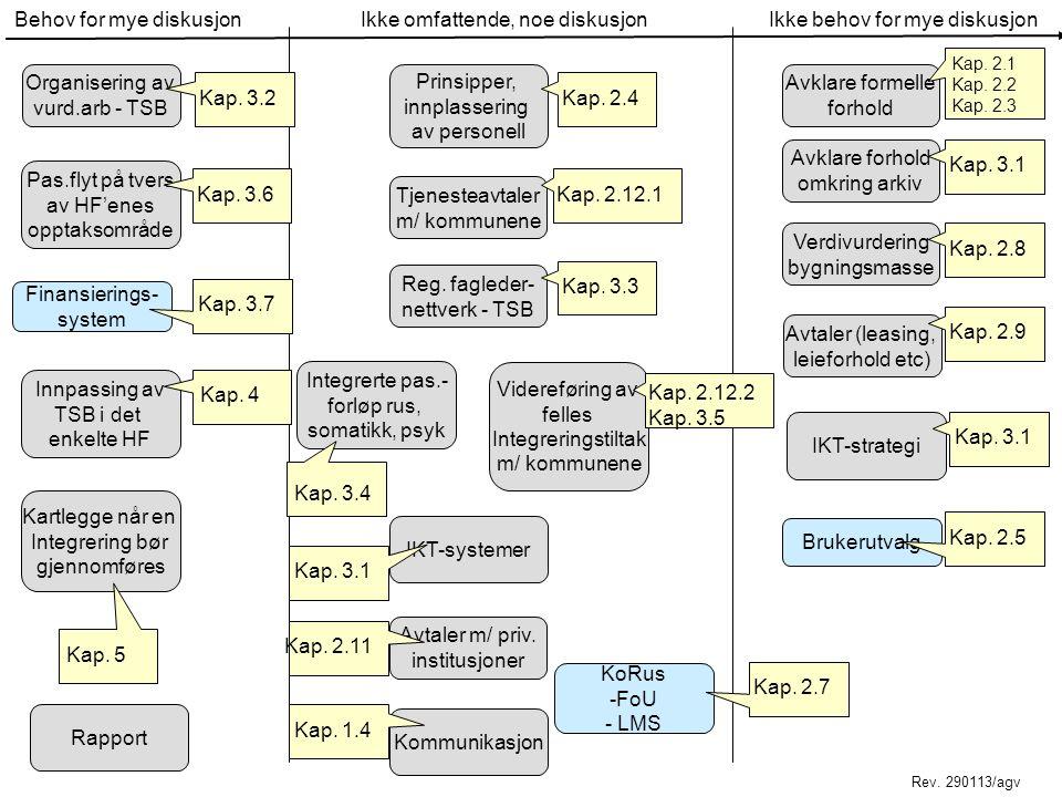 Hovedutfordringer Pasientflyt Organisering Finansieringsmodell (-er) IKT-systemer Tidspunkt for fusjon