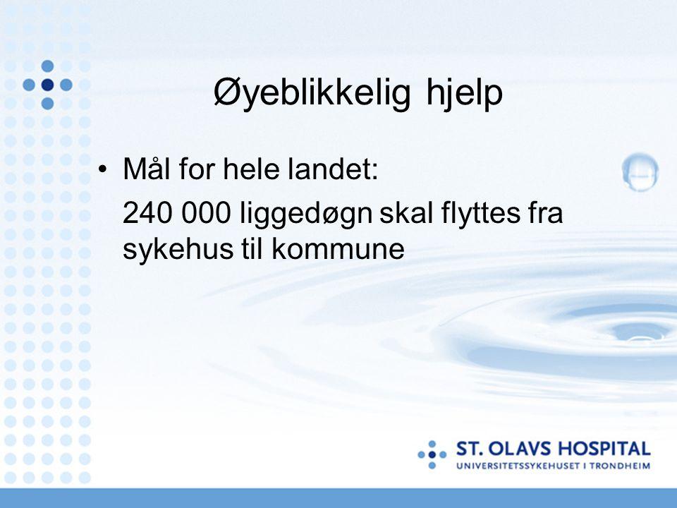 Øyeblikkelig hjelp Mål for hele landet: 240 000 liggedøgn skal flyttes fra sykehus til kommune