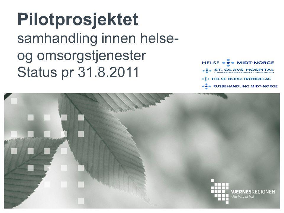 Pilotprosjektet samhandling innen helse- og omsorgstjenester Status pr 31.8.2011