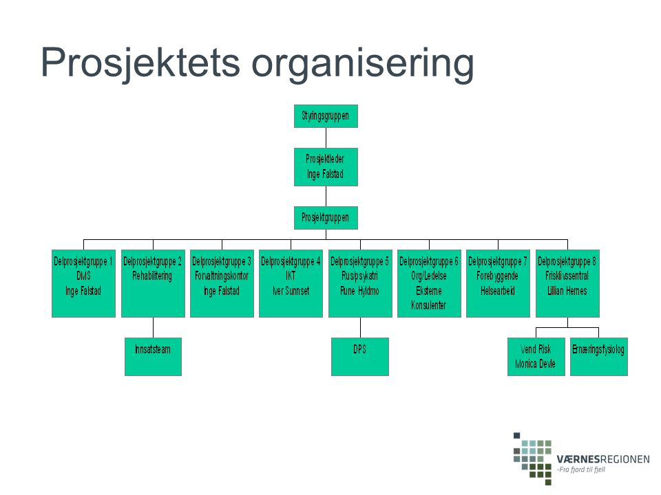 Prosjektets organisering