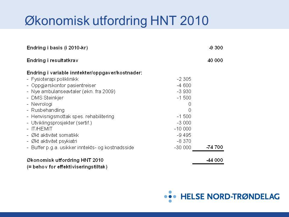 Økonomisk utfordring HNT 2010