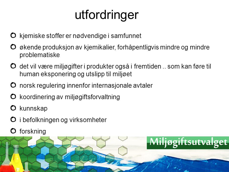 diskusjoner i utvalget fare, risiko, føre var forvaltningsnivåer og koordinering historiske, nåværende og framtidige kilder kunnskap om nivåer og effekter i Norge hva vil REACH bidra til?