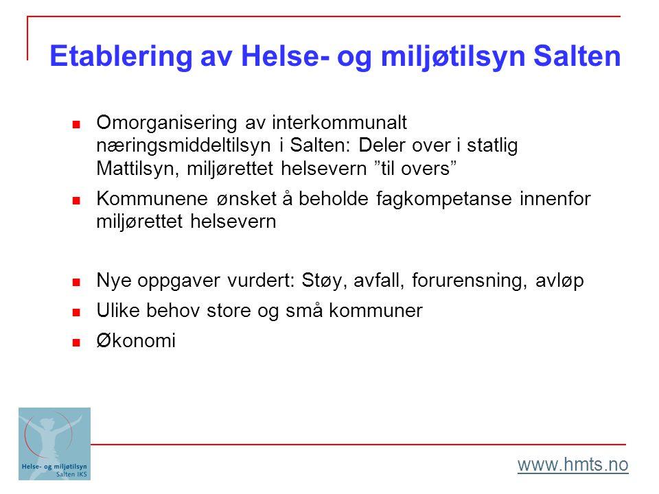 """Omorganisering av interkommunalt næringsmiddeltilsyn i Salten: Deler over i statlig Mattilsyn, miljørettet helsevern """"til overs"""" Kommunene ønsket å be"""
